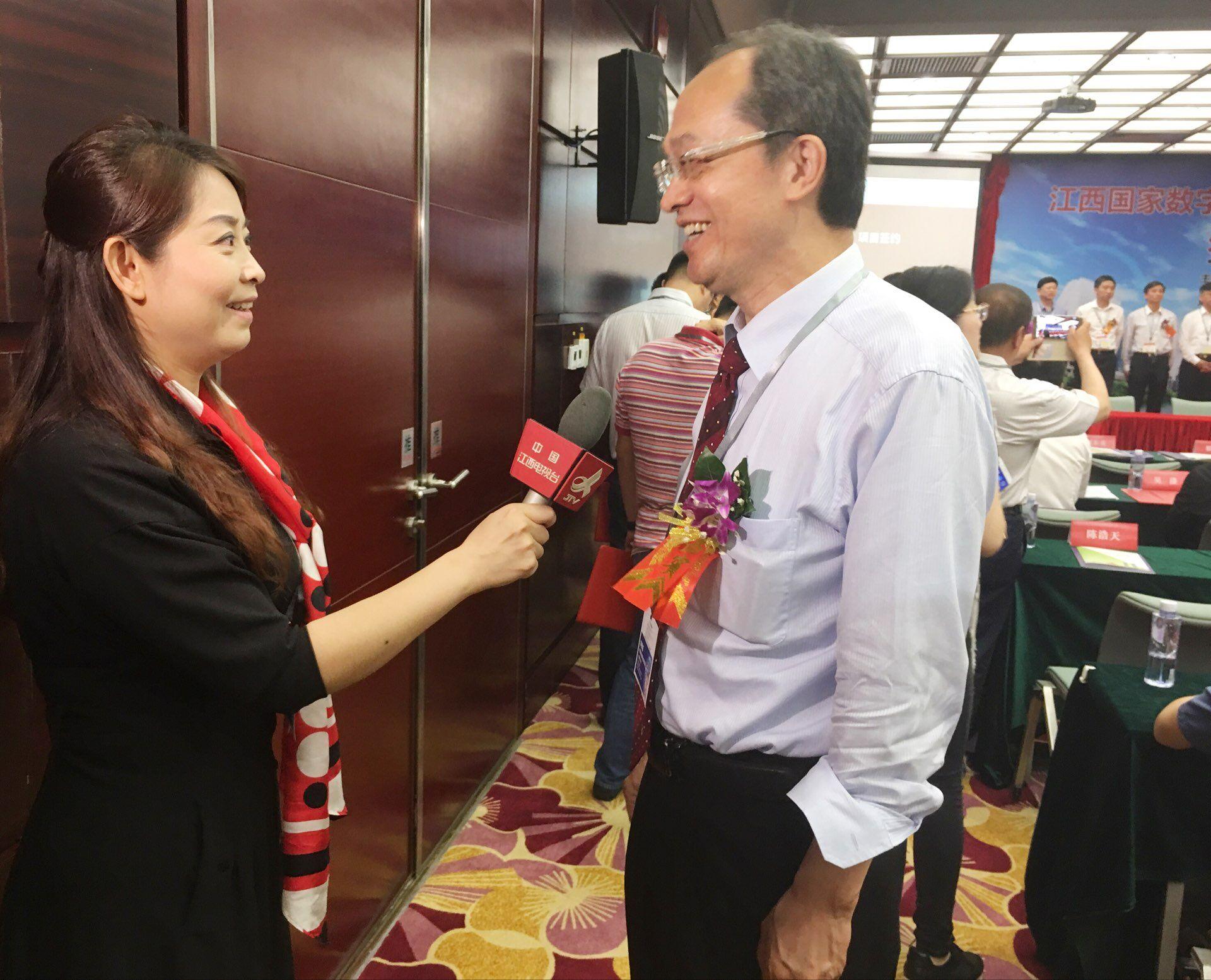 江西电视台采访登尼特董事长